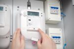 Electric,Energy,Meter.,Electrical,Technician,Servicing,Unit